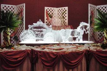 Horse & Carriage wedding Ice Sculpture